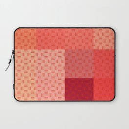 PINK SPRING BLOCK AND WEAVE PATTERN Laptop Sleeve