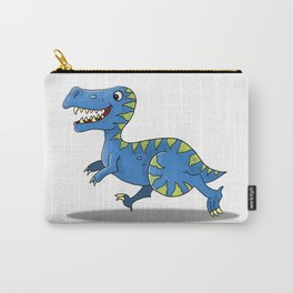Blue Dinosaur Character Carry-All Pouch