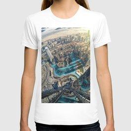 On top of the world, Burj Khalifa, Dubai, UAE T-shirt