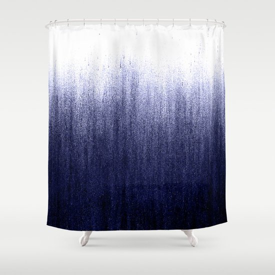 indigo ombre shower curtaincaitlin workman | society6