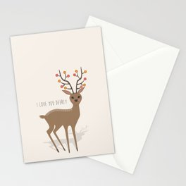 I love you deerly Stationery Cards