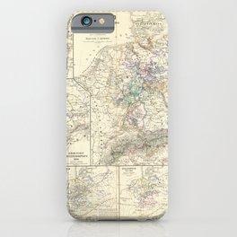 Vintage Map - Spruner-Menke Handatlas (1880) - 49 The German Confederation, 1815 - 1866 iPhone Case