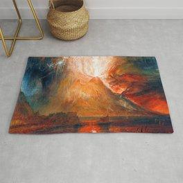 William Turner Vesuvius Eruption Rug
