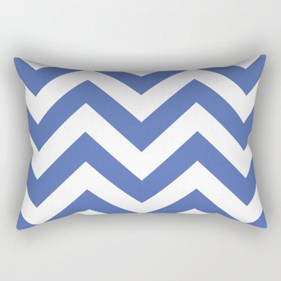 Large chevron pattern / royal blue Rectangular Pillow
