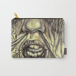 hair locked face. Carry-All Pouch