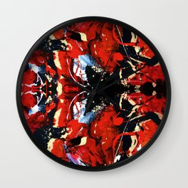 Red thoughts, Abstract Painting collection Wall Clock