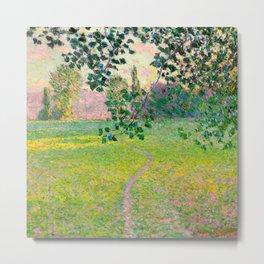 """Claude Monet """"Paysage de matin"""" (1888) Metal Print"""