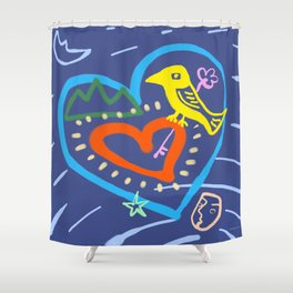 among moving stars Shower Curtain