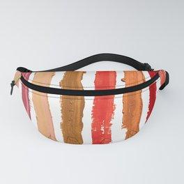 Lipstick Stripes - Red Orange Gold Fanny Pack