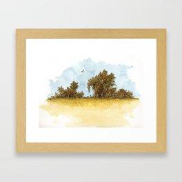 Dry Fields of Clovis Framed Art Print