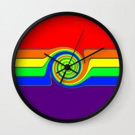 Rainbow With A Headache Wall Clock