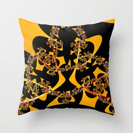Orange Explosion Throw Pillow