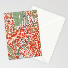 Berlin city map classic Stationery Cards