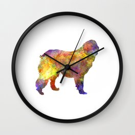 Leonberger in watercolor Wall Clock