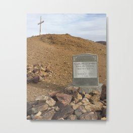 Gravestone of Tumbleweed Harris - Calico Ghost Town Metal Print