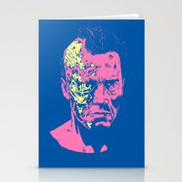 terminator Stationery Cards featuring Terminator (neon) by Liam Brazier