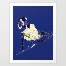 Snow Bike Art Print