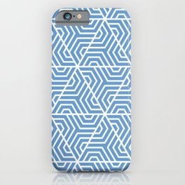 Livid - turquoise - Geometric Seamless Triangles Pattern iPhone Case