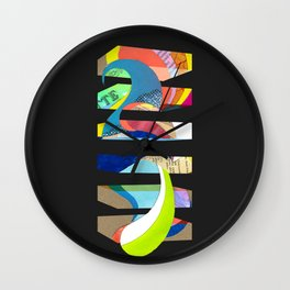 Judd Homage (collage) Wall Clock