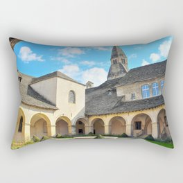 French Augustinian Convent building of Cremieu in Isere Rhone-Alpes Rectangular Pillow