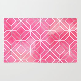 Geometric Crystals: Rose Petal Rug