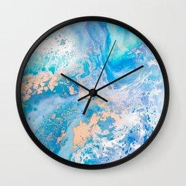Into the Blue Lagoon Wall Clock
