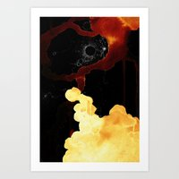 Red Space Art Print