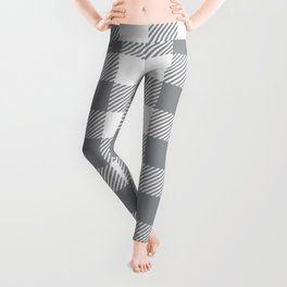 Buffalo Plaid - Grey & White Leggings
