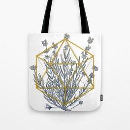 Lavender in Icosahedron Watercolor Tote Bag