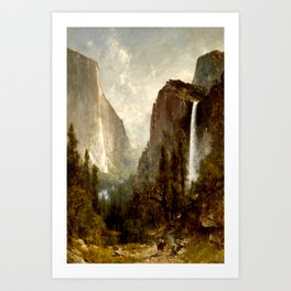 Bridal Veil Falls, Yosemite Valley 1892 Art Print
