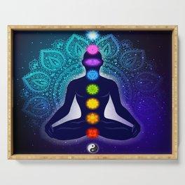 Meditating in Lotus Pose Serving Tray