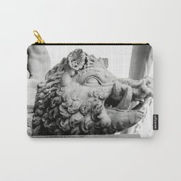 Head of wild boar, Florence, Italy photography by Larry Simpson Carry-All Pouch
