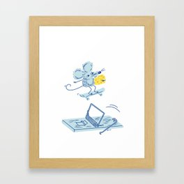 Get The Cheese Framed Art Print