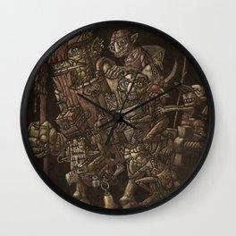 Moria taxi troll Wall Clock