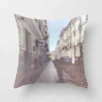 madrid Throw Pillows featuring Madrid, Spain by Jane Lacey Smith
