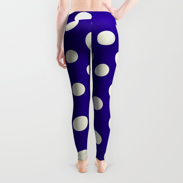 Polka Dot Party in Blue and White Leggings
