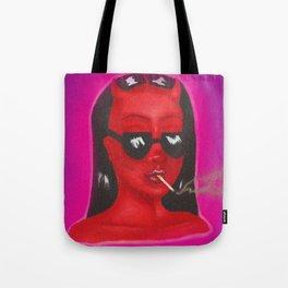 Devil Woman Tote Bag