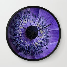 Purple Anemone Wall Clock