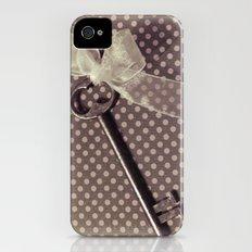 Vintage key Slim Case iPhone (4, 4s)