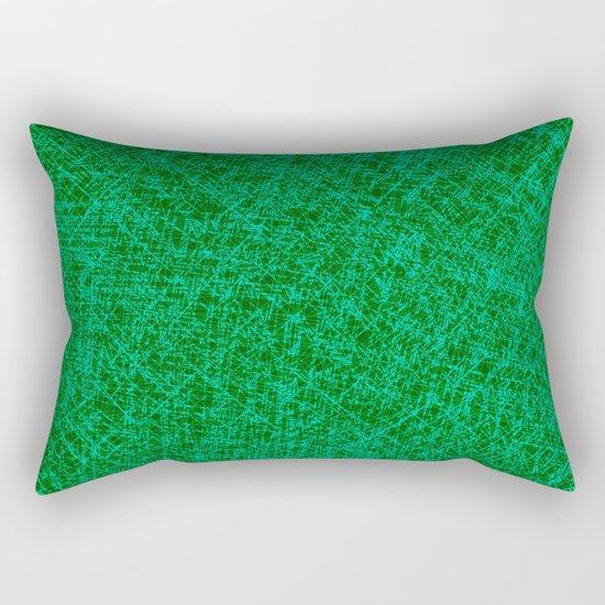 Scratched Green Rectangular Pillow