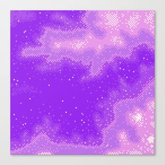 Purple Nebula (8bit) Canvas Print