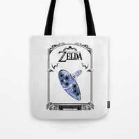 majora Tote Bags featuring Zelda legend - Ocarina of time by Art & Be