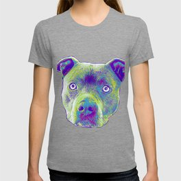 Blue Pitbull dog T-shirt