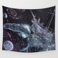 pirates Wall Tapestries featuring Space Pirates  by Drewnelz