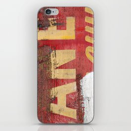 Yellow letters on red iPhone Skin