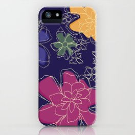 Floral - #Bright #Flowers #Abstract #Pattern iPhone Case