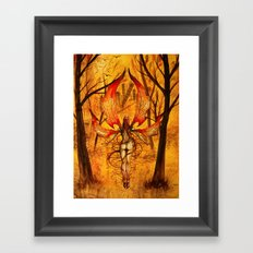 Fall Angel Fall Framed Art Print
