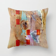 abstract in beige Throw Pillow