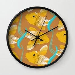 Koi Carp Pattern Wall Clock