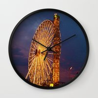 boardwalk empire Wall Clocks featuring Boardwalk by Julia Blanchette